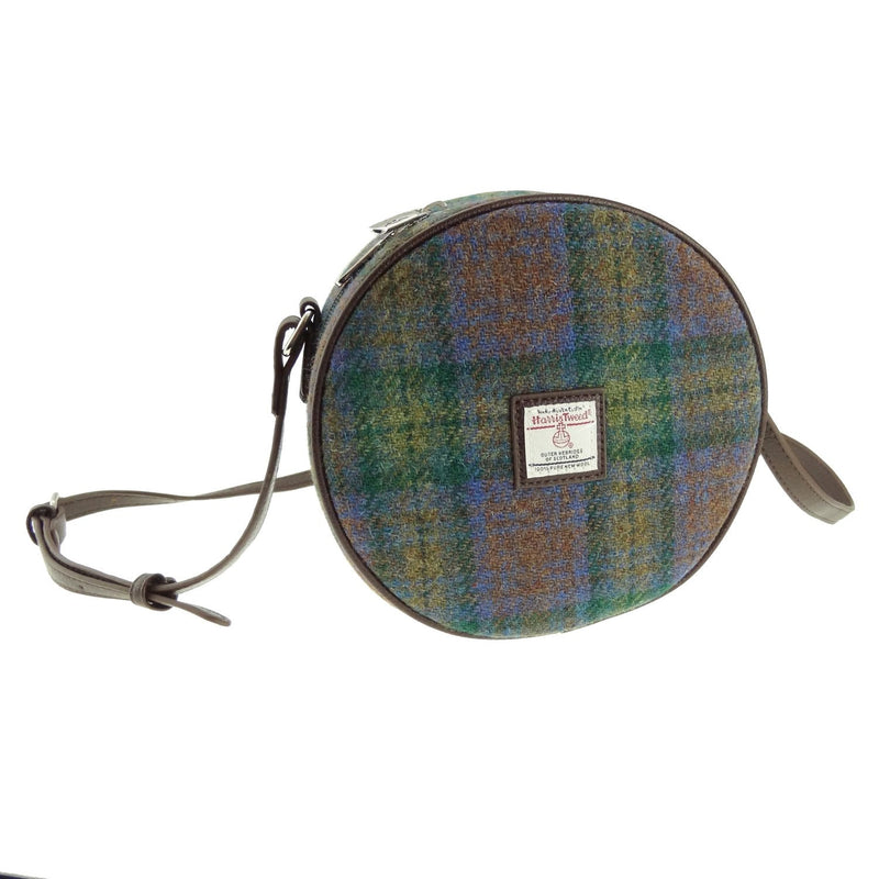 Skye Tartan Harris Tweed Round Handbag