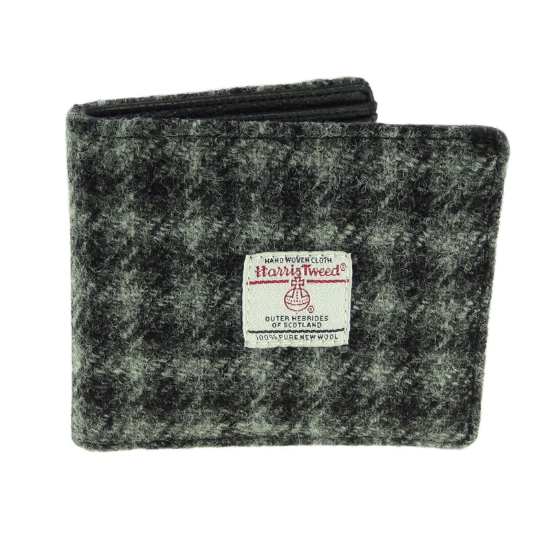 Grey/Black Check Harris Tweed Wallet