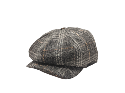 JP Tweed Cap - Grey Check