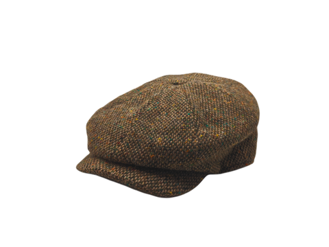 JP Tweed Cap - Brown Barleycorn