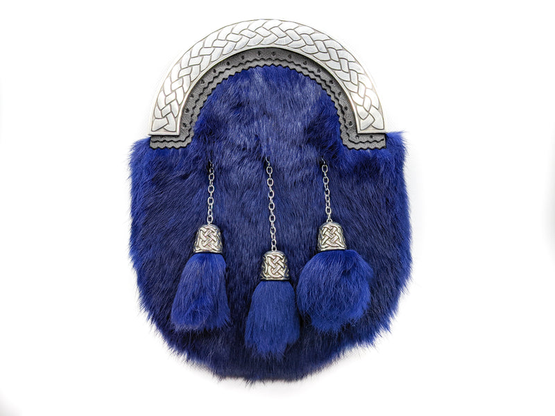 Navy Blue Rabbit Fur Sporran