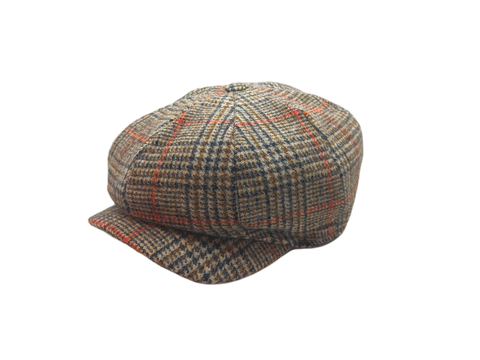 JP Tweed Cap - Brown Check