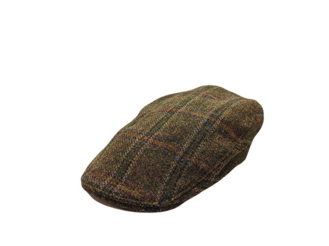 Donegal Tweed Touring Cap - Green Check