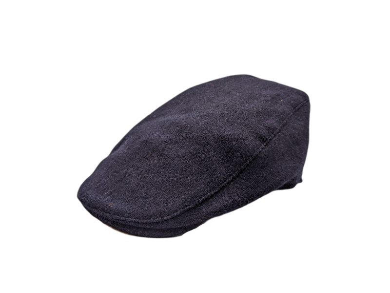 Donegal Tweed Touring Cap - Navy Herringbone