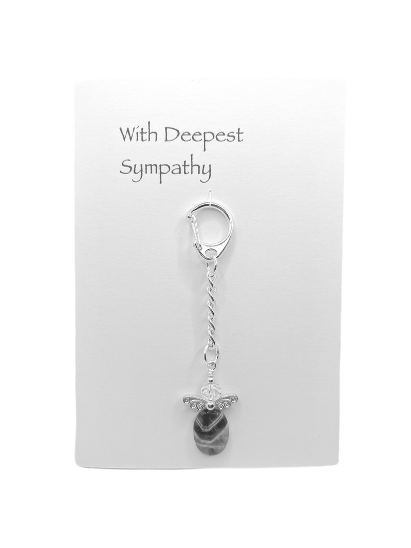 Deepest Sympathy Card with Angel Key Ring