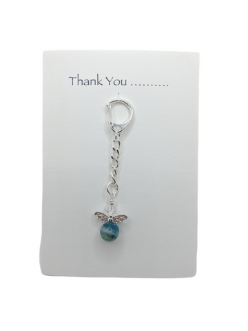Thank You Card with Angel Key Ring