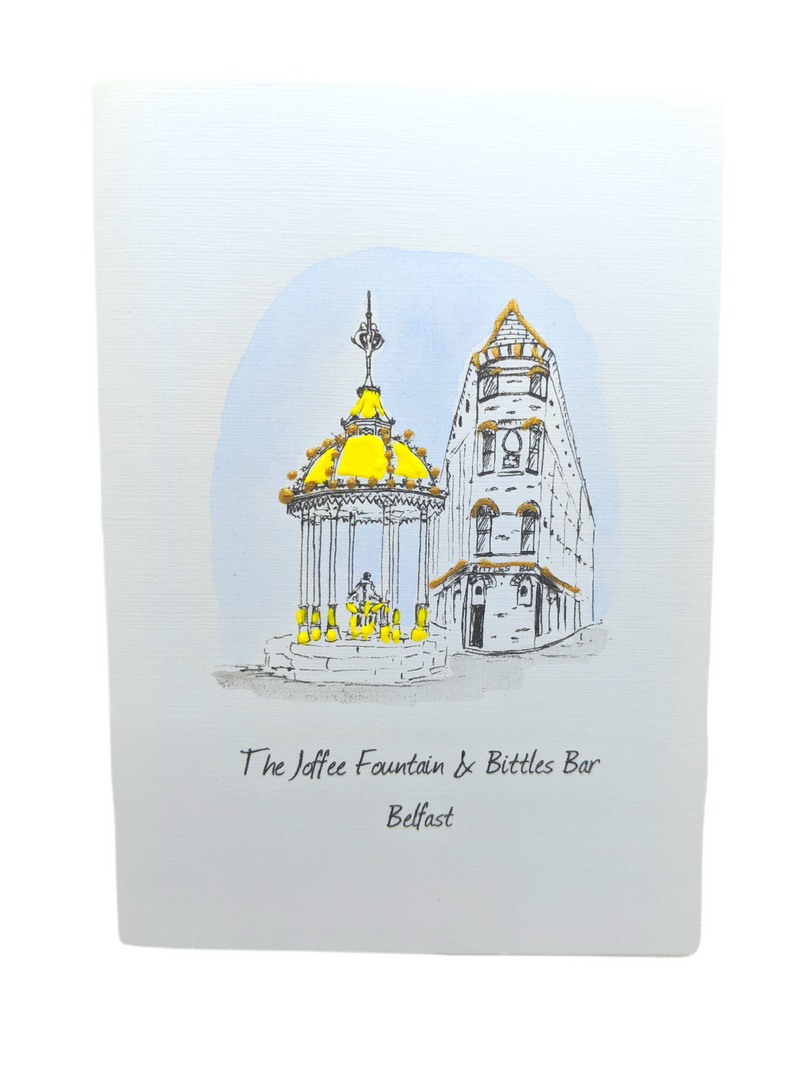 Joffee Fountain & Bittles Bar Greetings Card