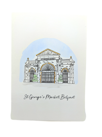 St George's Market Greetings Card