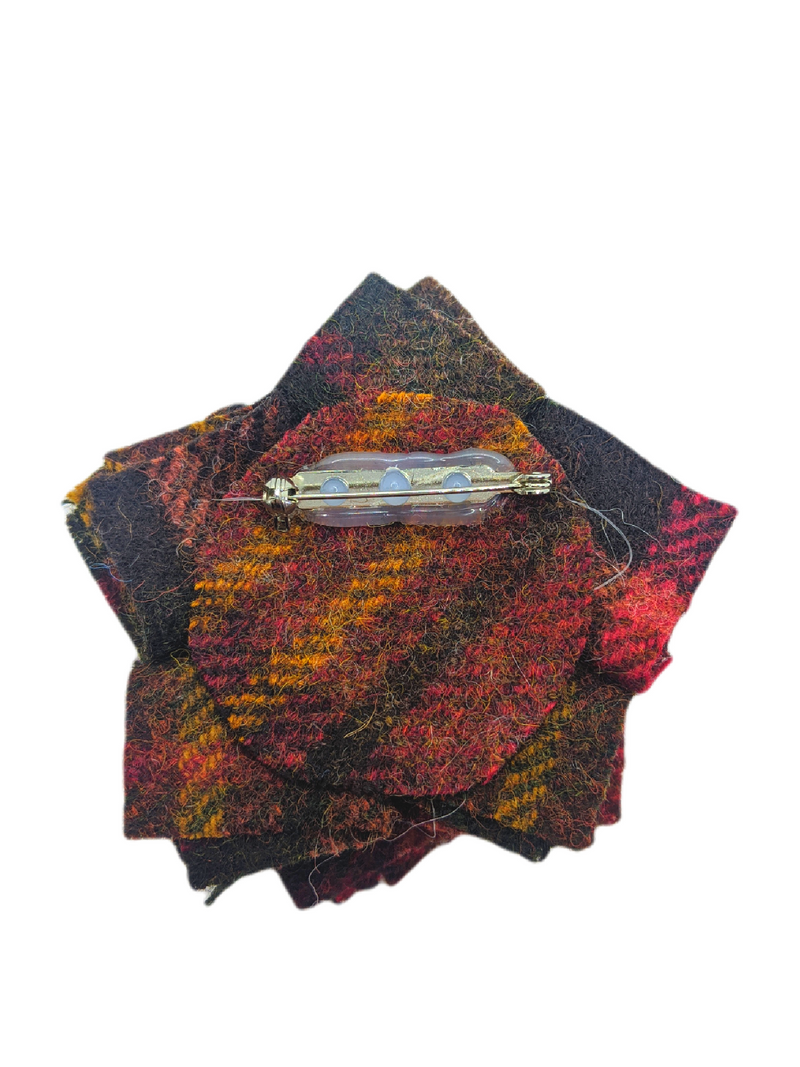 Harris Tweed Autumn Brooch