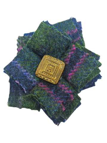 Midnight Garden Harris Tweed Brooch