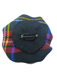 Black Stewart Tartan Large Brooch