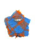 Gamebore Orange & Blue Harris Tweed Brooch