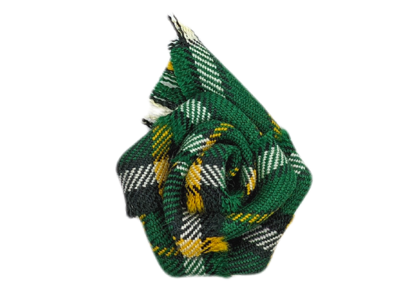 Irish National Tartan Rose Brooch