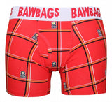 Red Bawbags Tartan Boxer Shorts