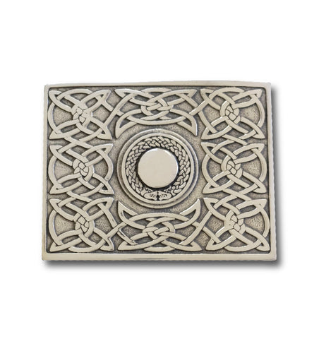 Celtic Weave Belt Buckle with Torq