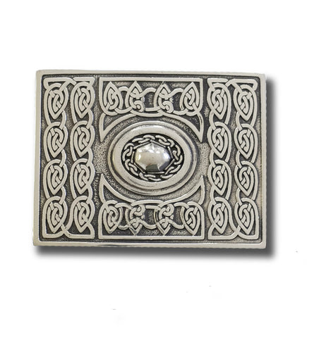 Celtic Weave Belt Buckle with Oval