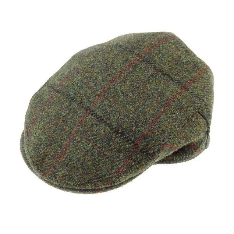 Green Check Harris Tweed Cap