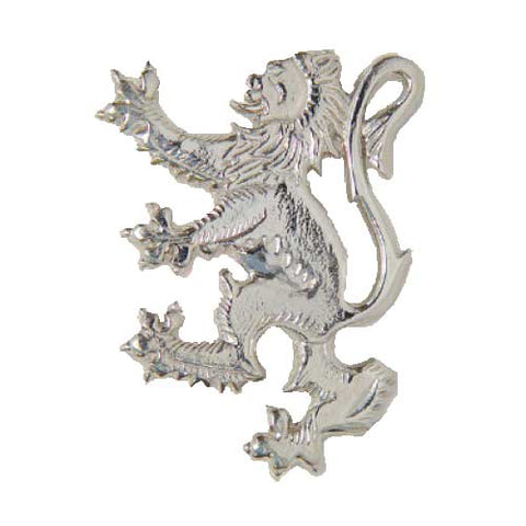 Lion Rampant Kilt Pin Brooch (Chrome)