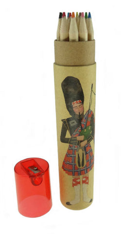 Colouring Pencils Tube - Bagpiper