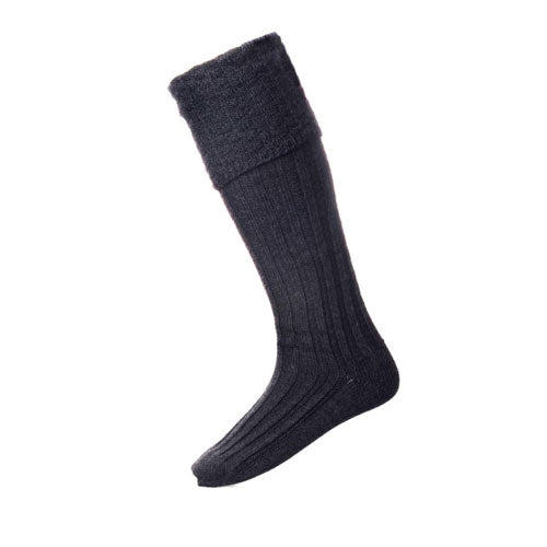 Premium Pipe Band Sock: Charcoal