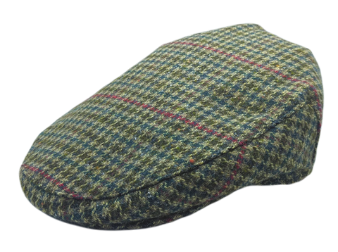 Green Dogtooth Harris Tweed Cap
