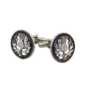 Thistle Cufflinks (Chrome)