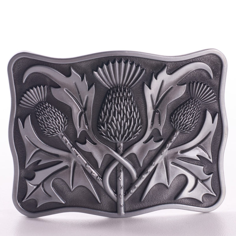 Thistle Belt Buckle (4 Finishes)