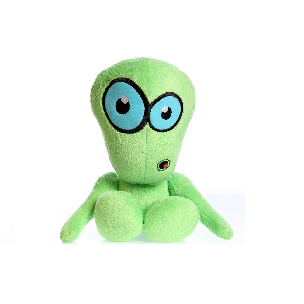 Hear Doggy Green Martian Plush