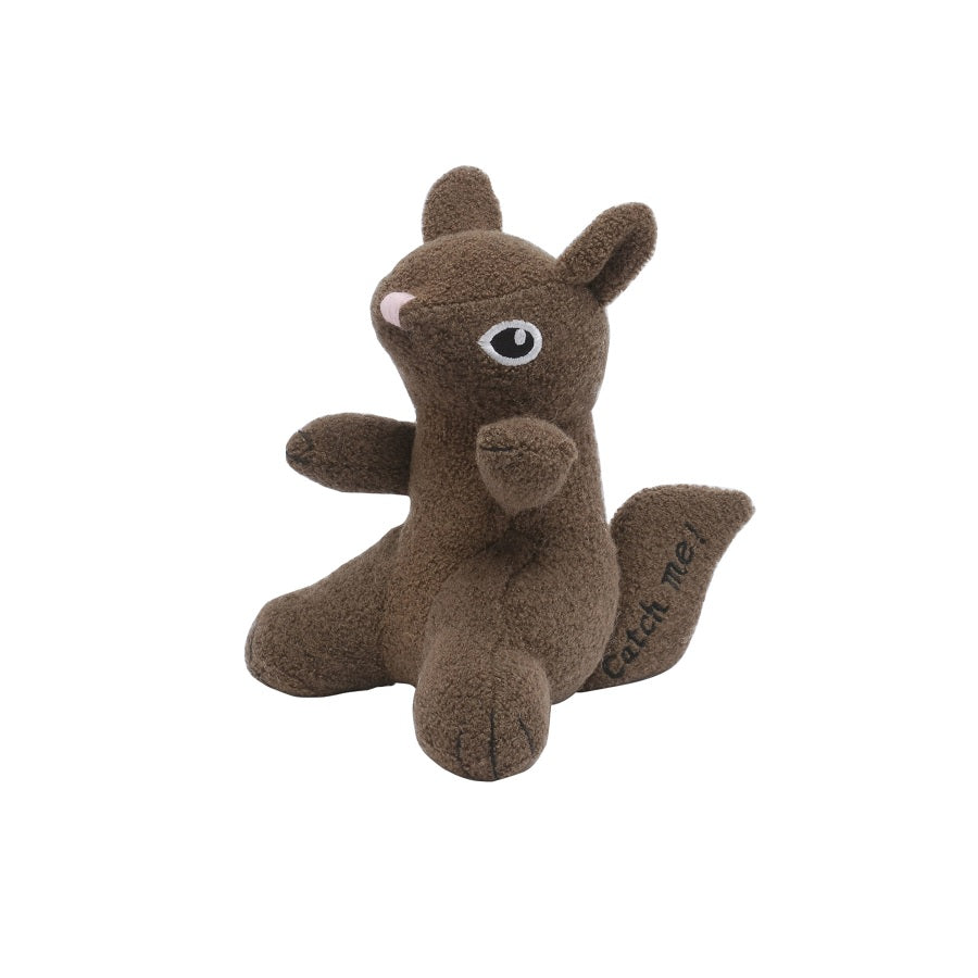 Squirrel Woolie Dog Squeak Toy