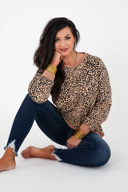 cheetah print sweater pullover