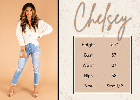Chelsey's height and size information