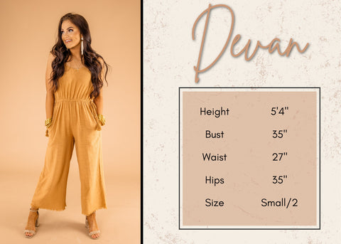 Devan's height and size information