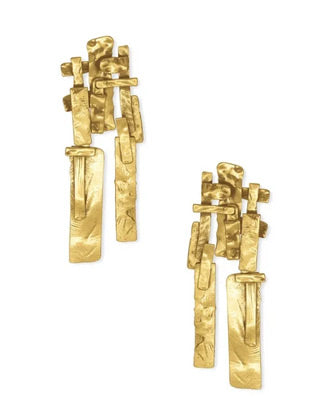 A pair of Kendra Scott abstract gold earrings