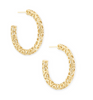 Maggie Small Hoop Earring Gold Filigree