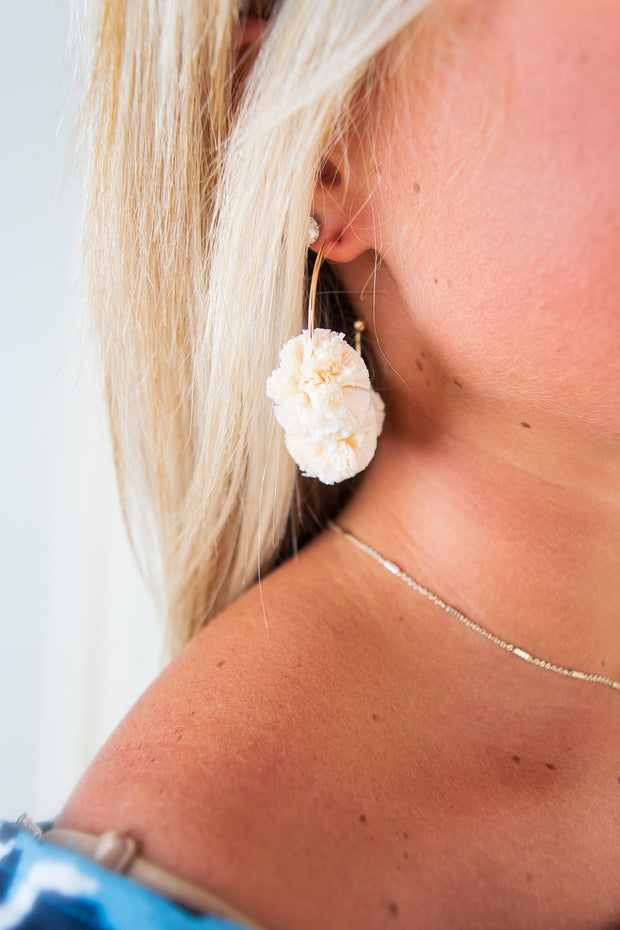 Willow Earrings Ivory/Gold - The Willow Tree Boutique