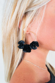 Willow Earrings Black/Gold - The Willow Tree Boutique