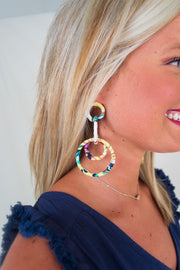 Cora Earring Yellow - The Willow Tree Boutique