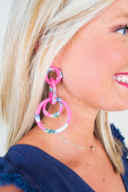 Cora Earrings Fuschia - The Willow Tree Boutique