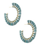 Evie Gold Hoop Earring - Turquoise