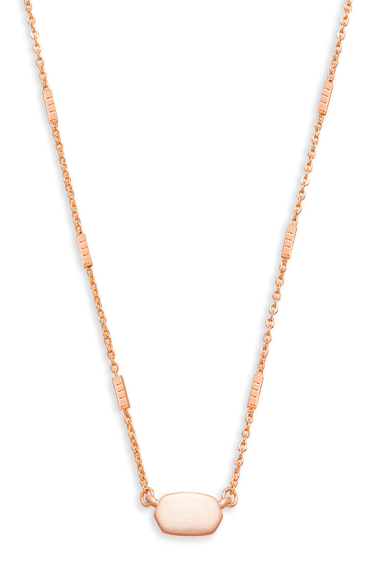 Fern Necklace Rose Gold - The Willow Tree Boutique