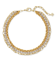Brylee Multi Strand Necklace - Mixed Metal