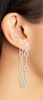 Ryder Linear Earring - Rhodium