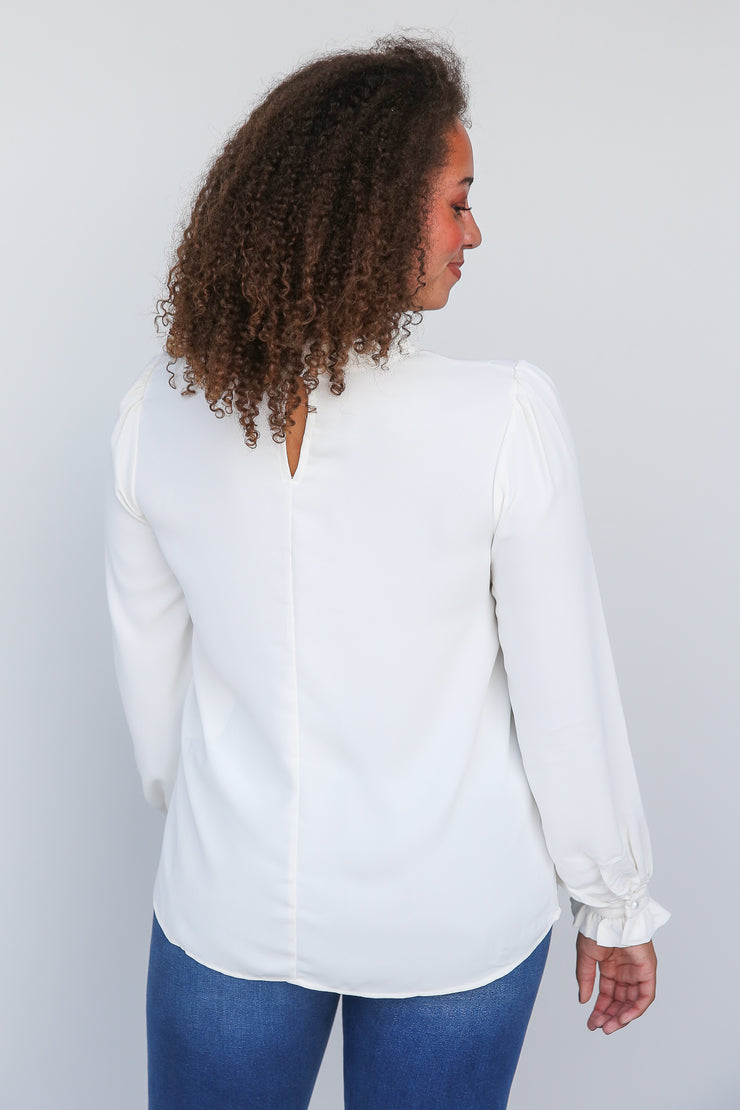 For Starters Ruffle Neck Blouse