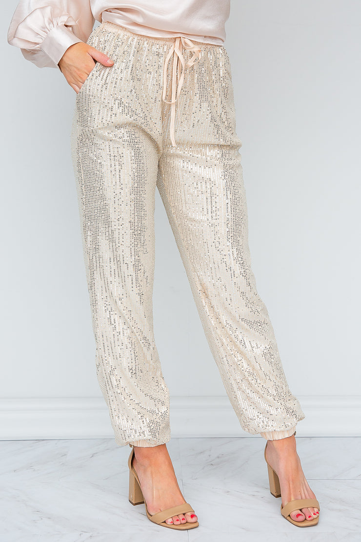 Just Winter Things Sequin Joggers - FINAL SALE