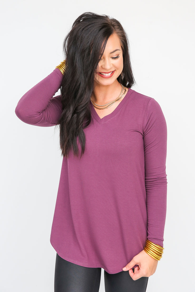 Dash Away Round Hem Top
