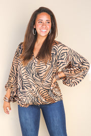 Half Past Zebra Twist Top - FINAL SALE
