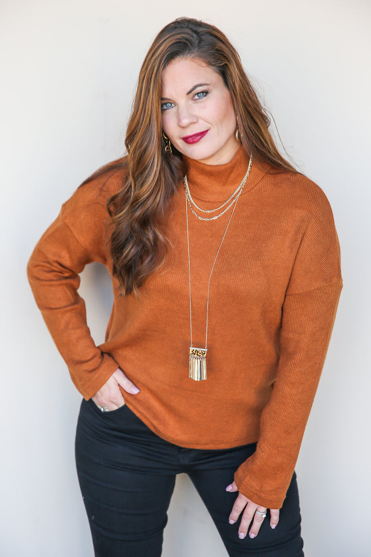 Things You Say Mock Neck Sweater - FINAL SALE