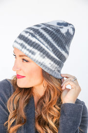Winter Ribbed Striped Beanie