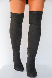 See You Downtown Over Knee Boot