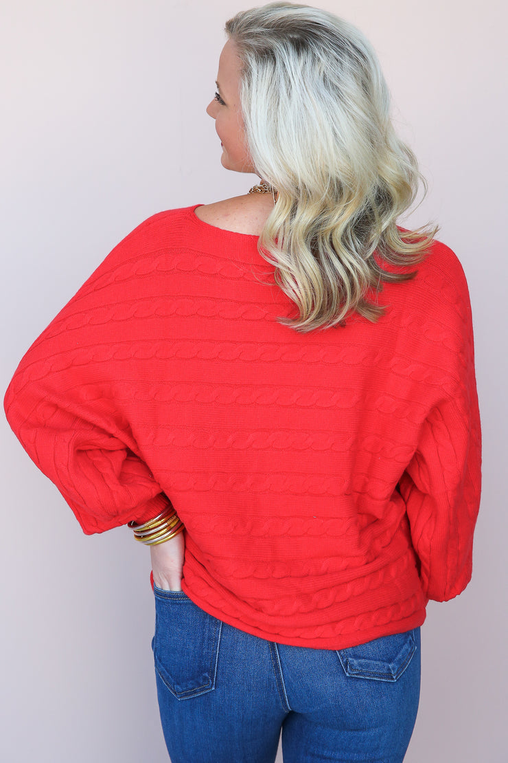 Remi Cable Dolman Sweater